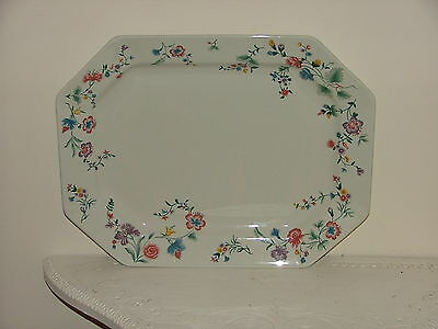 Laura Ashley Large Serving Plate Chinese Silk     Christmas Dinner ?
