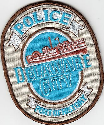 """Delaware City Police Patch De """"port Of History"""" Riverboat"""