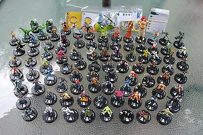 Large Mixed Lot of 93 HeroClix Hero Clix Figures w/Cards Marvel & DC Superheroes