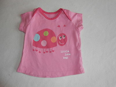 Baby Girls Clothes 0-3 Months - Pretty T Shirt  Top - Combine Postage & Save