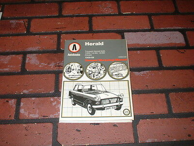 Workshop Manual For Triumph Herald. 1200 12/50 13/60. 1959 To 1968.