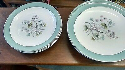 """12 midwinter 'mayfield'plates, 6 x 10"""" and 6 x 9"""""""