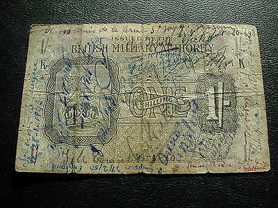 British Armed Force One Shilling Banknote