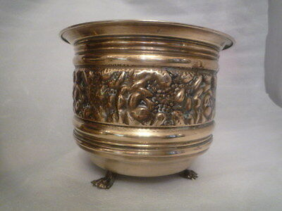 A Vintage Brass Planter 8 inches Diameter.  Very Good Condition