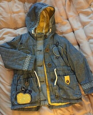 girls denium lined jacket 2/3 years New without tags