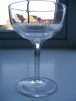 Vintage Cut Crystal Glass Champagne Glass