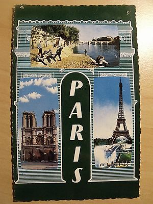 Unposted card of Paris showing three famous locations