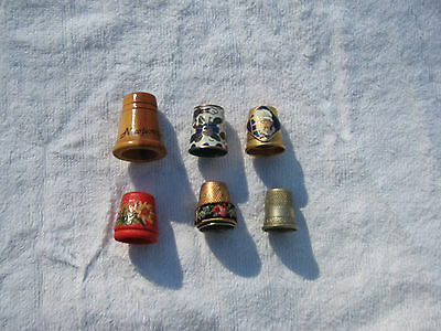 Vintage Sewing Thimble Lot of 6