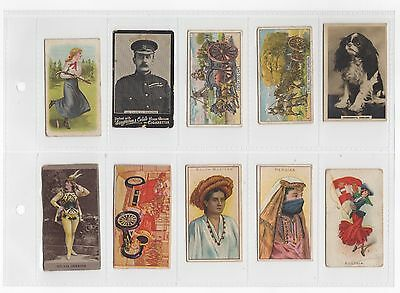 10 x Early Vintage Cigarette Cards