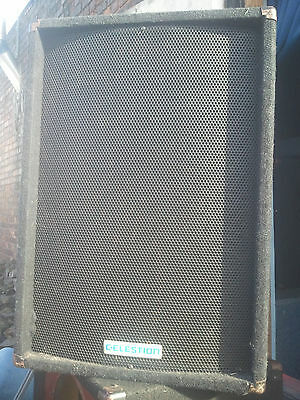 "Pair PA Speakers.200watt 15"" 8ohm. Celestion Cabs with Fane Drivers. Working"