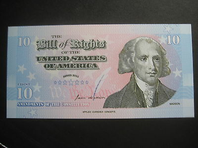 Us Series Applied Currency Concepts Polymer - Bill Of Rights- Brand New