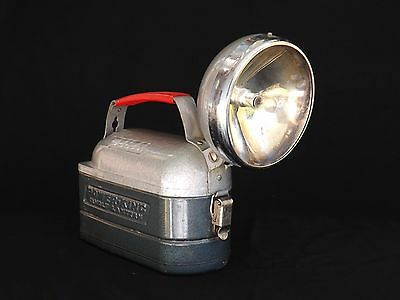 Vtg. Delta Power King 12 V. Hand Lantern Flashlight Untested Parts Model No Lens