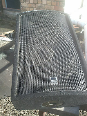 "Class D Floor/Wedge Monitors. Pair. 150watt. 8ohm. 12"" Drivers+Horn. Top Hats"