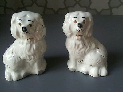 A Pair Of Vintage Beswick Spaniel Dogs. ..minituare Size.