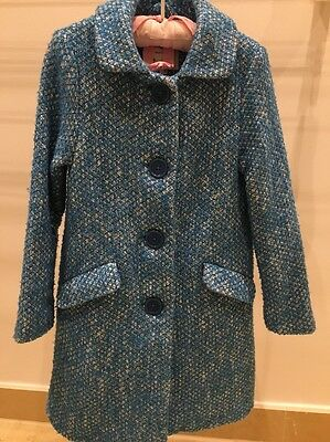 Girls Boden Turquoise Coat Age 7-8