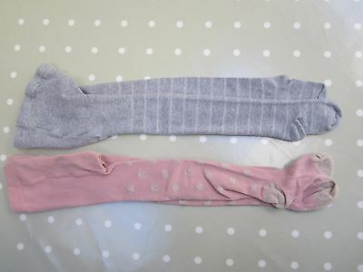 2 Pairs Sparkly Girls Tights Mini Boden & Gap. Barely worn. Age 6-7