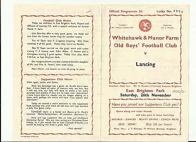 Whitehawk & Manor Farm Old Boys v Lancing 1955/6 (Sussex SeniorLeague)