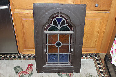 Antique Addison Glass Stained Glass Window-Religious Church Window-Large-Thick
