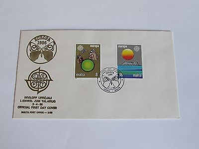 1986 Malta First Day Cover NO ADDRESS