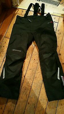 Alpinestars Andes Motorcycle Motorbike Textile Trousers Pants Black NEW