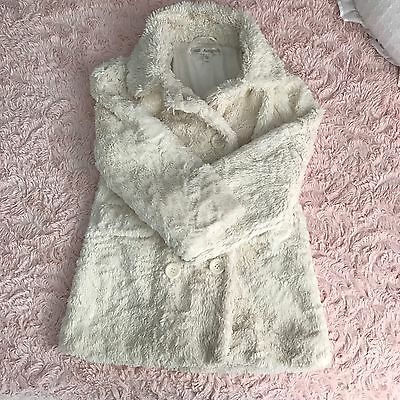 Girls Autograph M&S Winter Furry Jacket Coat Great For Christmas 5-6 Years