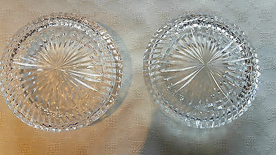 Pair Of Tyrone Crystal Ashtrays - Excellant Condition