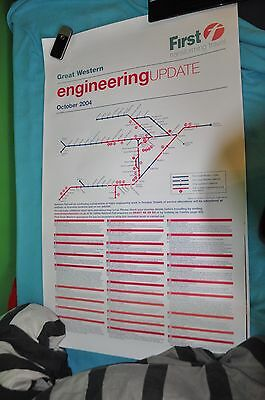 First Great Western - Engineering Update Railway Station poster October 2004