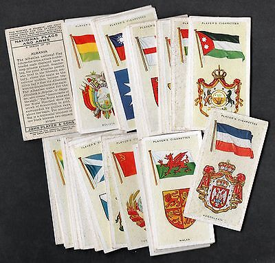 full set players national flags & arms