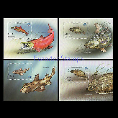 Lesotho 1998 International Year of the Ocean set of 4 M/Sheets. MNH