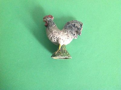 Vintage German Elastolin Toy Farm Animal Chicken / Cockerel