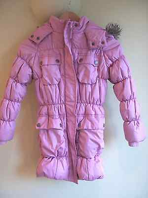 Next Girls Pink Quilted Coat age 7-8years