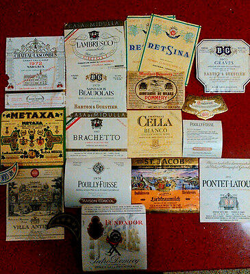 Vintage Wine Labels From The 70's