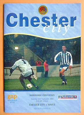 Chester City (FIRST non-league season) v Hayes 2000/2001 Conference