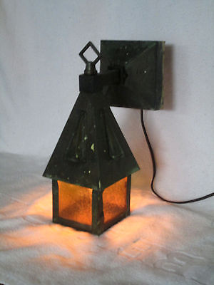 Mission Arts & Crafts Copper Electric Porch Light Wall Sconce