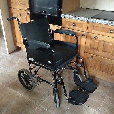 Wheelchair AP100 Adult Attendant Propelled Black Foldable Max Weight 112kg