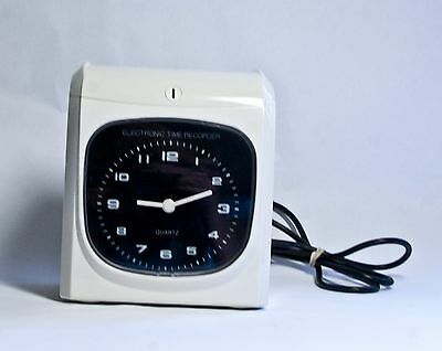 Electronic Employee analogue Time Recorder Time Clock  Monthly/Semimonthly