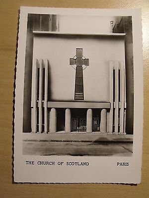 Unposted postcard of The Church of Scotland in Paris