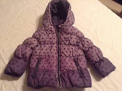 Girls Oshkosh B'gosh Fleece Lined Winter Coat (Age 2 Years)