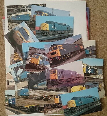 Railway locomotive postcards - collection of 25 diesel/electric