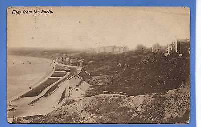 Old Vintage Postcard Filey From The North Yorkshire