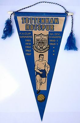 Tottenham Hotspur vintage 1967 pennant Spurs old football FA Cup winners