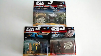 3 x  Star Wars Micro Machines Gift Sets -The Force Awakens etc.