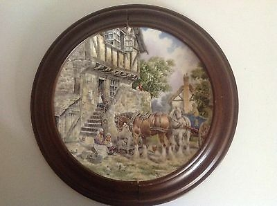 Bradford Exchange Wedgwood Collectors Wall Plate Morning In The Farmyard Framed