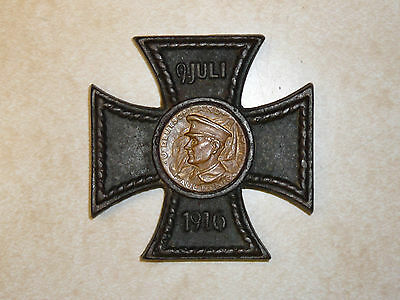 WWI 1916 German Iron Cross Paperweight Commemorating U-Boat Visit to Baltimore