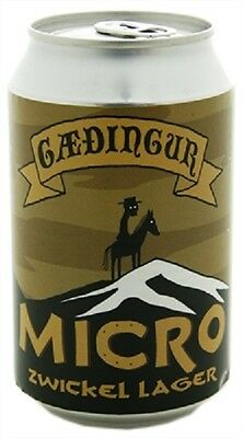 Gæðingur Micro Empty Beer Can Made In Iceland 330 Ml