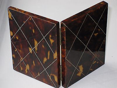 Beautiful Antique Faux Tortoiseshell Visiting Card Case