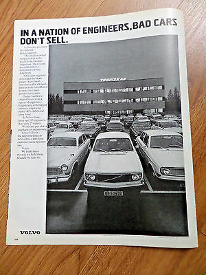 1972 Volvo Ad In Sweden Precision is a National Preoccupation