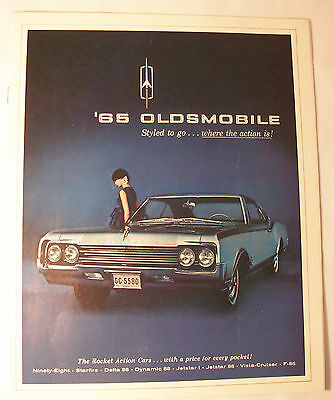 1965 Oldsmobile Full Color Brochure-Very nice condition
