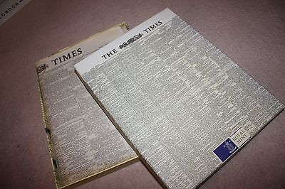 Royal Mint ''the Times'' Newspaper, Boxed, (The Queens Coronation) 3/6/53