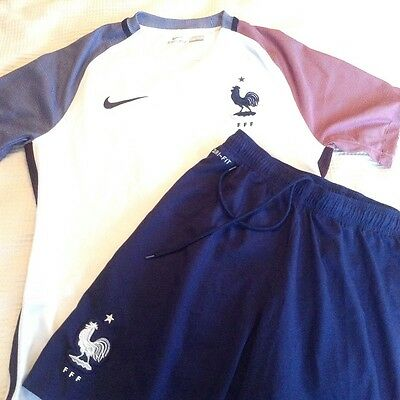 authentic french men's away football kit 2016 - medium